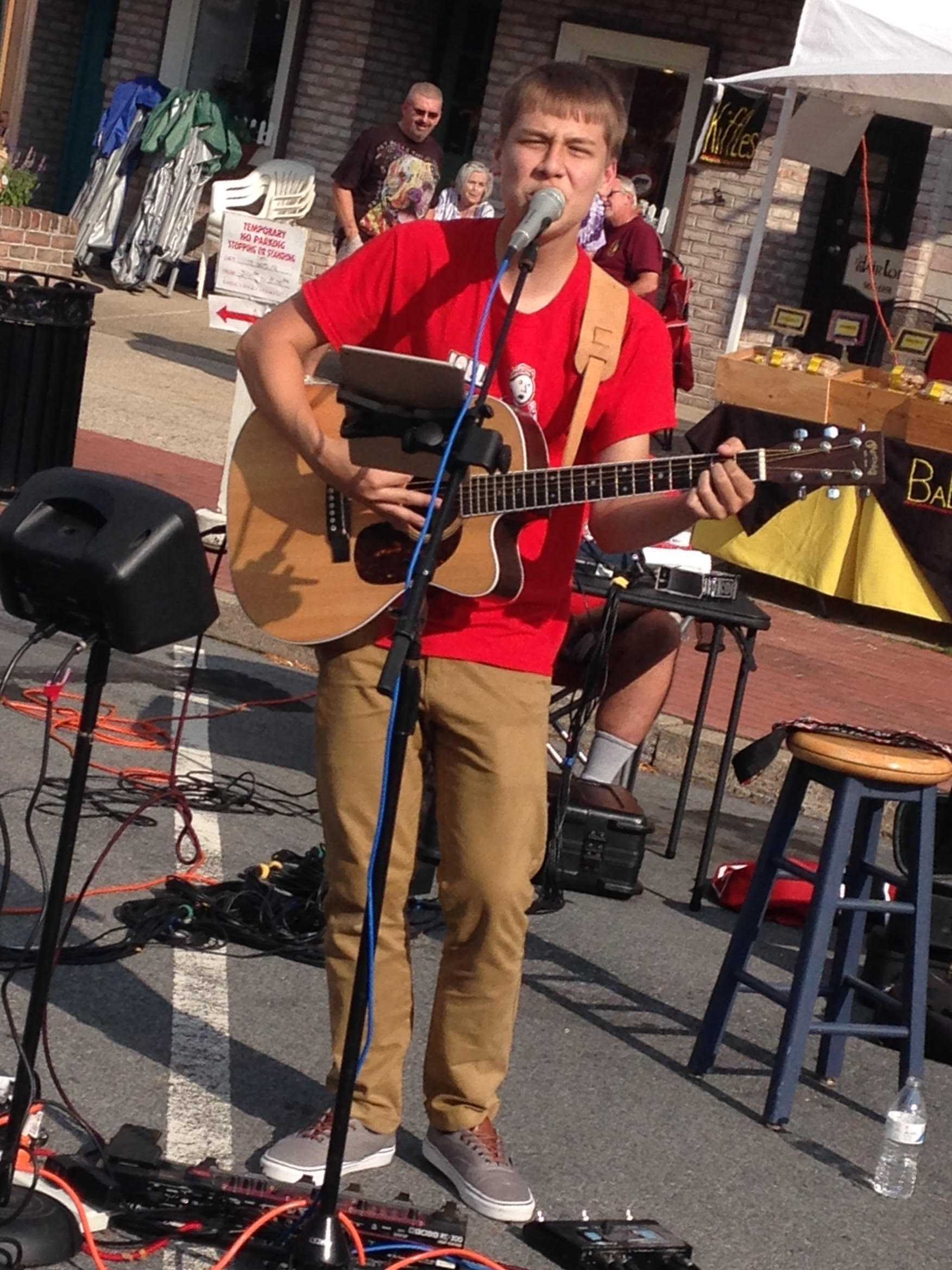 EHS junior Joel Shimer performs in the Emmaus triangle. Photo courtesy of Denise Reaman