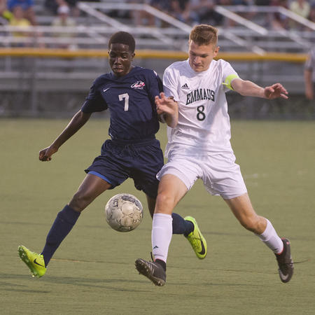 Tonight, EHS boys soccer will face their rivals, Parkland, in the district championship. Photo courtesy of Emmaussports.com