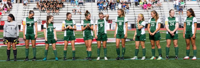 EHS girls soccer team will face Parkland tonight in their first district championship in eight years. Photo courtesy of Mark Lineberger.