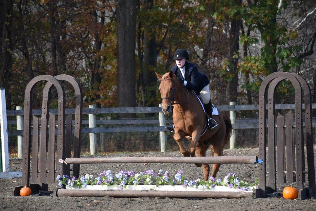 Sophomore Colette McDonald competes in show jumping. Photo by Mehru Chaudry