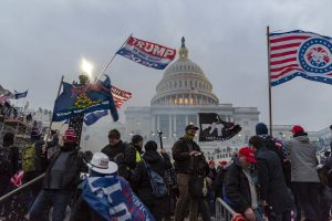 Trump supporters storm the Capitol in Washington D.C. Photo courtesy of Blink O'Fanaye via Flickr.