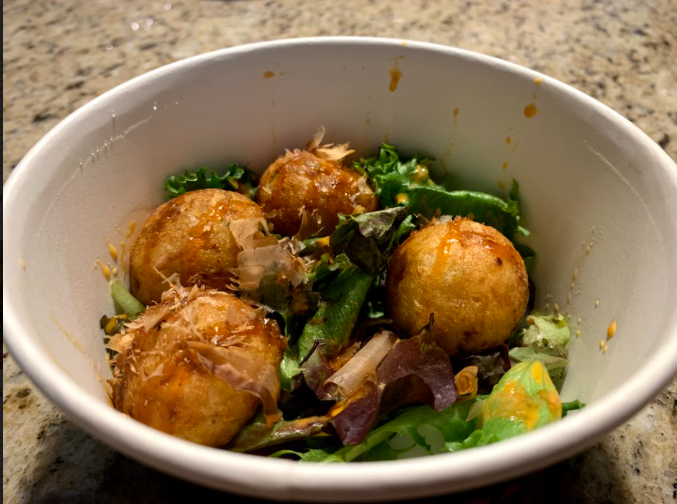 The Takoyaki appetizer from Takkii Ramen is flavorful but pricey.